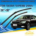 "Escovas Para SKODA SUPERB (2008-) 2009 10 2011 12 2013 2014 2015 Car Windscreen Windshield Wiper Blade 18 ""+ 24"" carros estilo"