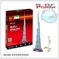 Educacional 1 pc CubicFun Dubai Khalifa torre 3D DIY papel puzzle brinquedo de presente kits famoso modelo de montagem