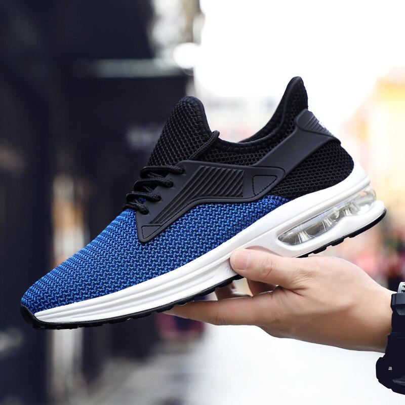 Résistant Casual Course Léger Maille Grey Black Profonde Respirant De grey Hommes Peu Sapphire Sneakers L'usure Absorbant À Bouche Choc Chaussures black L4j35RAq