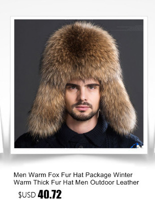 8ac40bf4a5f 2017 Russian Men Real Mink Fur Hats Winter Warm Ear Outdoor luxury Caps  Casual Fur Bomber Earmuffs Cap Winter Leifeng Hats H 03