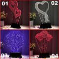 Bedroom 3D Magical Night Light Decorative Baymax illusion Contribute to Child Sleep decro Changeable LED USB Table Lamp x 55pcs