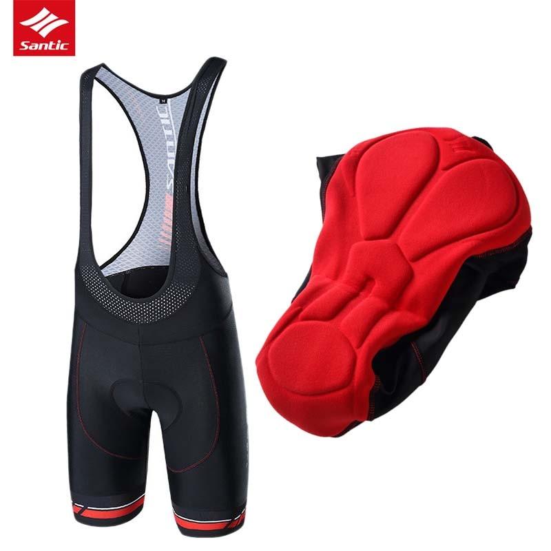 Santic Cycling Shorts 2019 Men Pro Road Bike Shorts Imported Padded Downhill MTB Bicycle Shorts Mesh