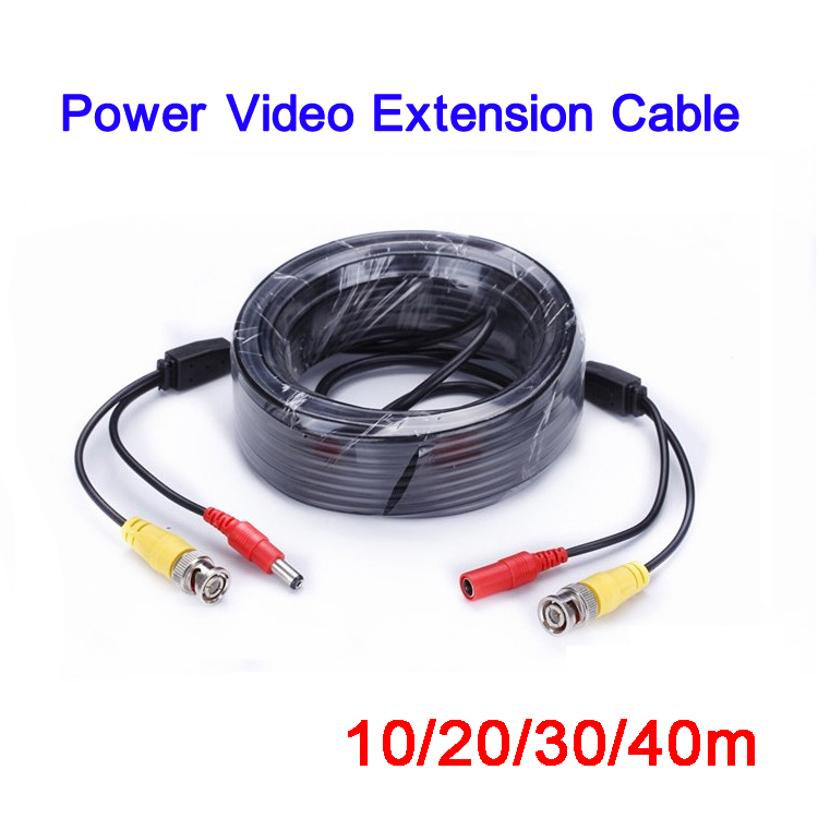 все цены на 10 meters Length Two in One Security Power and Video Extension Camera BNC Cable Free Shipping онлайн