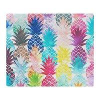 Hawaiian Pineapple Pattern Tropical Soft Fleece Throw Blanket Air/Sofa/Bedding Soft Winter Bedsheet