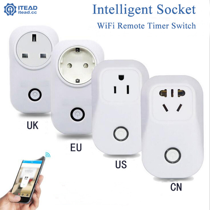 2017 Smart Wifi Socket Wireless Remote Control Socket Smart Home Switch Plug Timer Automation Control EU US UK Power Socket Plug xenon wireless wifi socket app remote control smart wifi power plug timer switch wall plug home appliance automation eu style