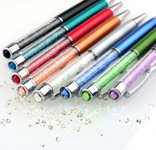 Новый Кристалл Ручка с бриллиантами шариковые ручки для свадьба Подарок студенты канцелярские принадлежности розничная оптовая запасной вариант