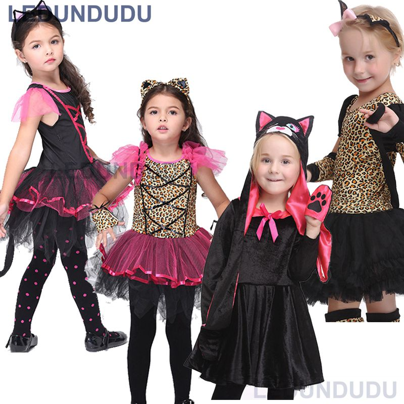 4d8efee64270 Detail Feedback Questions about Kids Leopard Tiger Cute Girls Lace Dress  Funny Catwoman Cosplay Lovely Cat Children Ballet Dresses Halloween Costumes  on ...