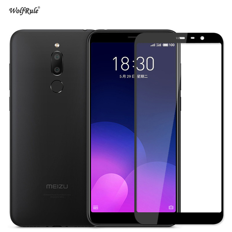 """Screen Protector Meizu M6T Glass 2.5D Tempered Glass sFor Meizu M6T Full Coverage Glass Meizu M6T M811Q Film 5.7"""" WolfRule-in Phone Screen Protectors from Cellphones & Telecommunications"""