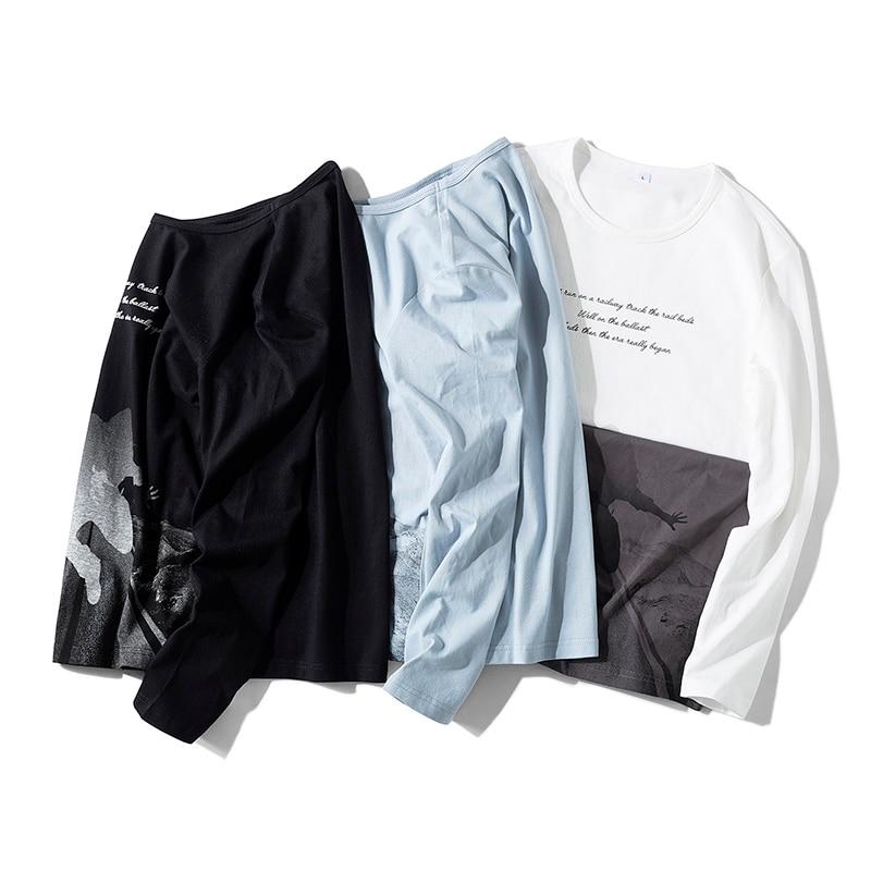 Harajuku Male Long Sleeve T Shirt Trends Printing Men 39 s T Shirts O Neck Autumn Comfortable Long Sleeve T Shirt in T Shirts from Men 39 s Clothing