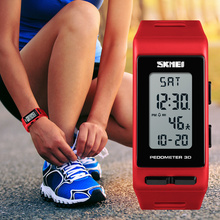 SKMEI Brand Mens Sports Watches Luxury Pedometer Calorie Digital Watch Waterproof LED Electronic Outdoor Wrist Clock Women