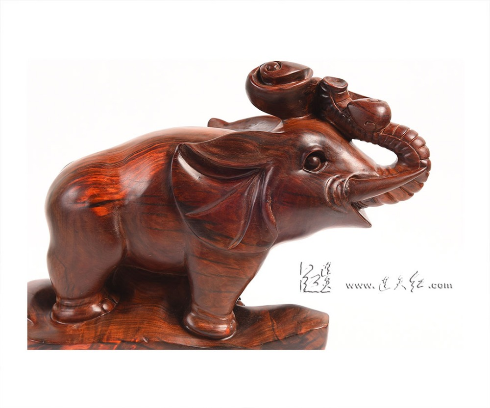 Chinese classical rosewood carving art crafts elephant symbol of chinese classical rosewood carving art crafts elephant symbol of good luck solid wood home living room hotel office decorations in statues sculptures biocorpaavc