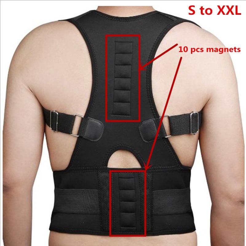 Back Posture Corrector 10 Magnet Magnetic Therapy Orthopedic Corset Belt Back Straightener Round Shoulder Back Pain Brace B002-1