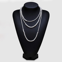Runzhuqiyuan 2017 100% натуральный пресноводный жемчуг длинные Цепочки и ожерелья 3 4 6 7 мм настоящие перлы 160 см Цепочки и ожерелья для женщин Best подар