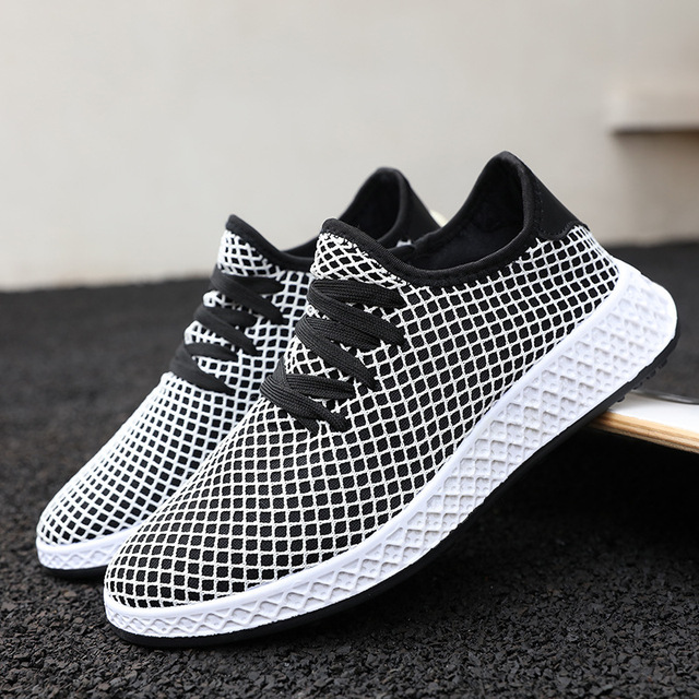 2018 Knit Running Shoes Men Free Outdoor Sport Shoes For Man White Athletic Laces Light Running Shoes For Male Fintness  5