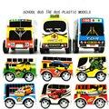 Crianças brinquedos de desenvolvimento para crianças hot wheels de volta no mini carro de plástico modelo de ônibus bonito para meninos de alta qualidade presente