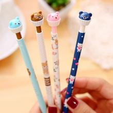 1pcs/lot Bear Cup Cake shape 0.5mm mechanical pencil Drawing pencils students' gift prize office school supplies