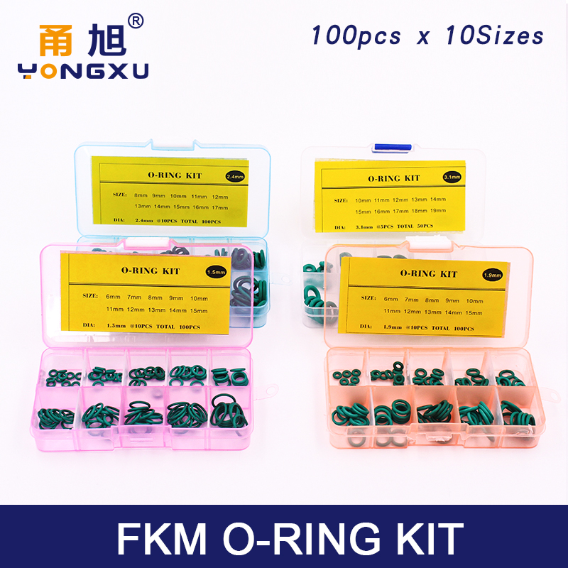 FKM O-Ringe Rubber Seal Washer Green O Ring OD 4 mm 70 mm WD 1 mm 3.1 mm
