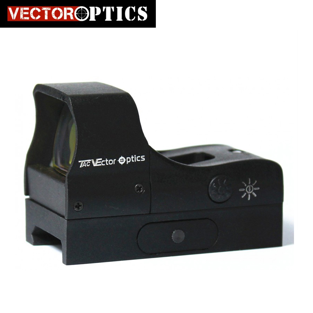Vector Optics Predator 1x28x20 Compact Tactical Shooting Red Dot Riflescope Gun Sight fit 21mm Picatinny Weaver