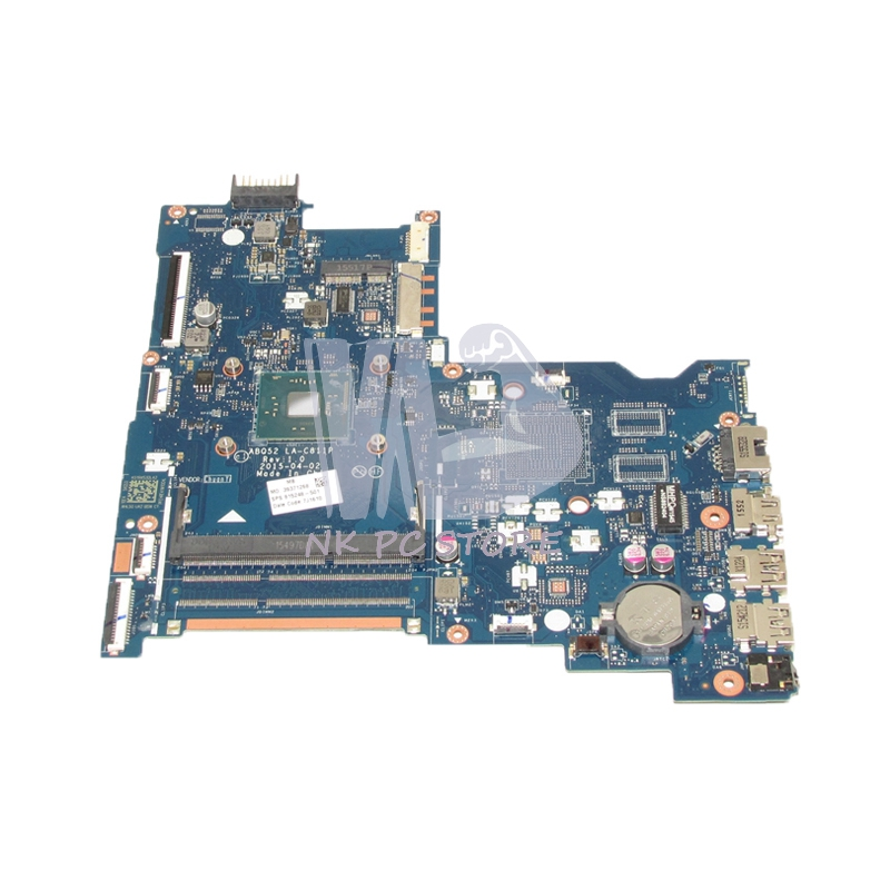 NOKOTION 815248-501 815248-001 ABQ52 LA-C811P Laptop Motherboard For HP 15-AC MAIN BOARD DDR3 With Processor onboard 685518 001 684319 001 main board for hp elitebook 8560w laptop motherboard qm67 ddr3 with graphics slot