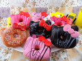 Top quality brand 10cm Hello Kawaii Kitty Donut Jumbo Squishy keychain buns cell phone bag charm wholesale KC079