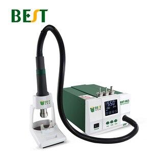 Image 2 - BEST 863 kurşunsuz termostatik ısı tabancası lehimleme İstasyonu 1200W akıllı LCD dijital ekran Rework istasyonu telefon tamir