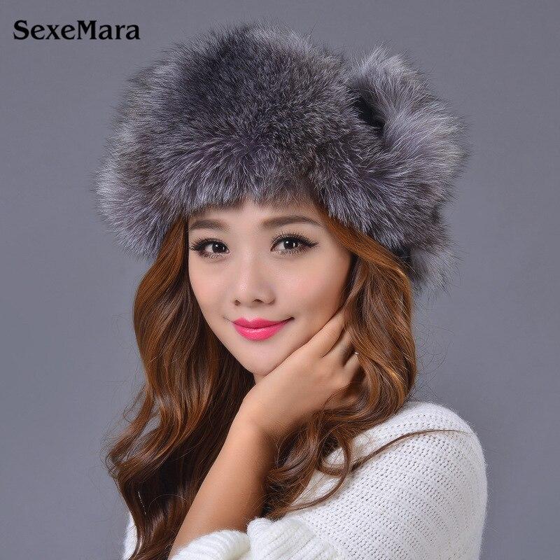 Hat Fashion Warm Skullies Women's Winter Hats Fur Hats For Women Winter Knitted Hats Ear Protection Cap Winter Cap Women E001 skullies