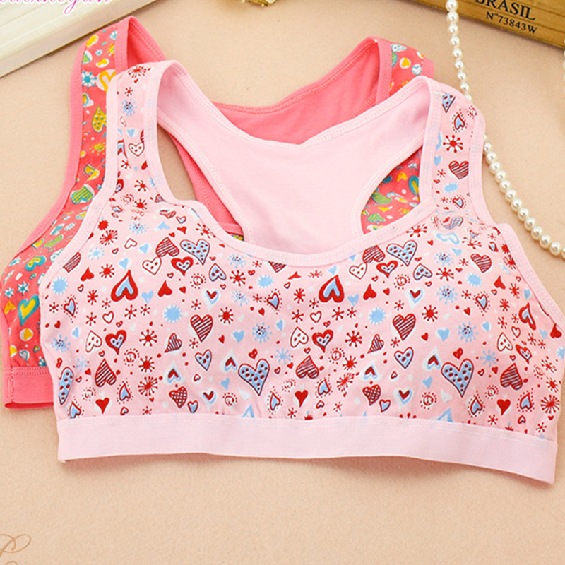 1pc Cotton Bras For Kids Teen Young Girls Training Underwear Small Wireless Thin Cup Child Puberty Bra Teenages Clothes