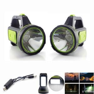 Image 2 - גבוהה כוח LED פנס USB נטענת פלאש אור לפידים מובנה סוללה צד אור לדיג חיצוני קמפינג Protable