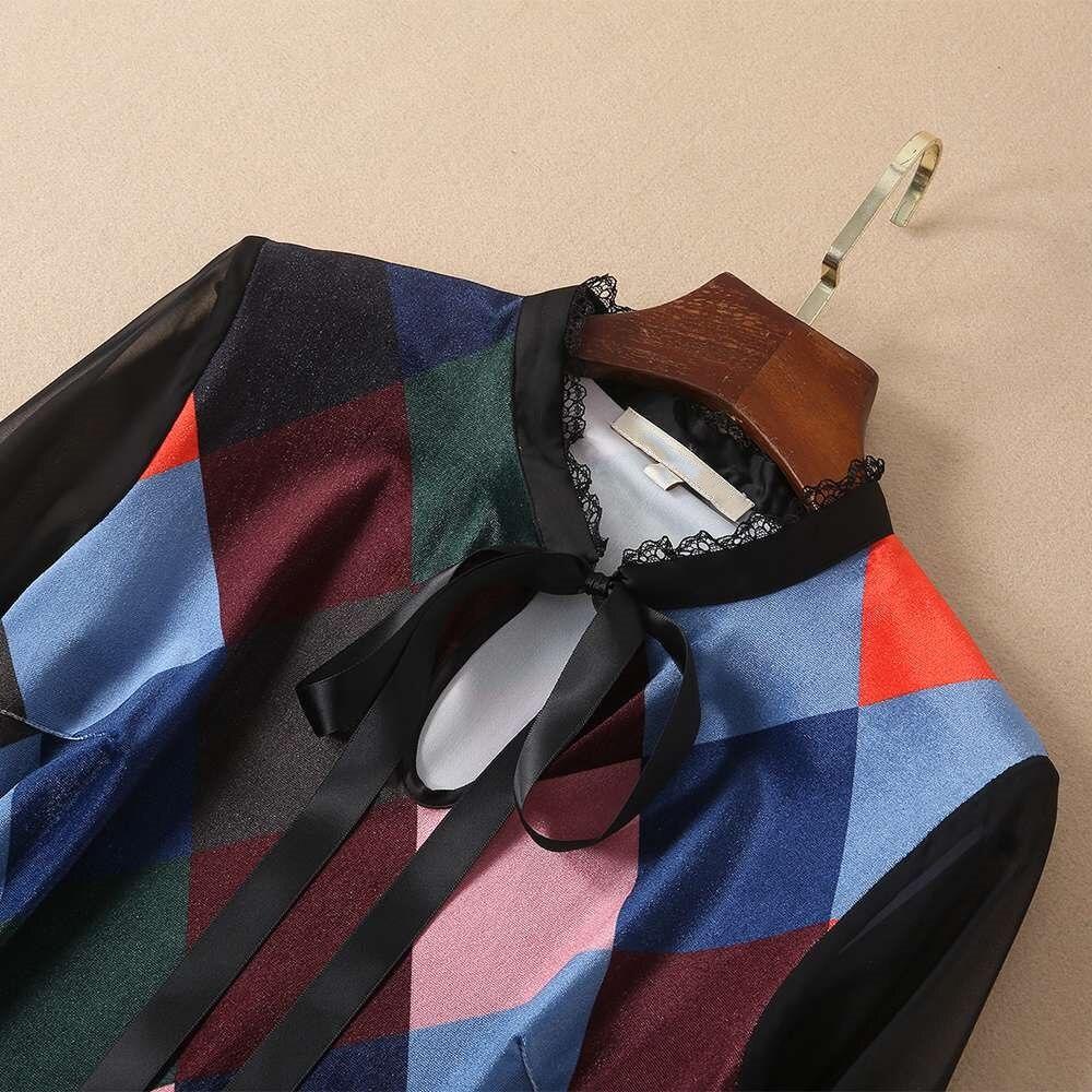 À 2019 cou Manches Piste Femmes Velours Longue Imprimée O Robe Longues Maxi Robes Supérieure Qualité Décontractées Np0261mf TlJF1cuK35