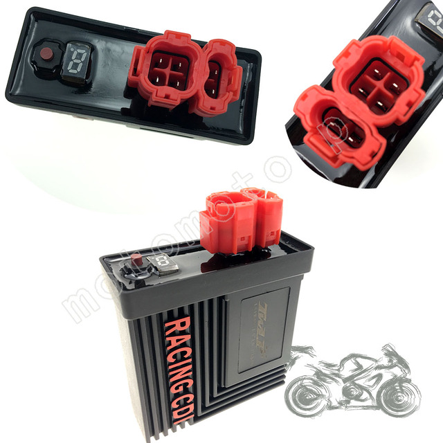US $30 0 |Performance 6 pin digital adjustable AC Racing CDI Box Ignition  Coil For GY6 125 150cc 139QMB 152QMI 157QMJ CG Scooter Moped ATV-in