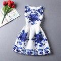 Para mujer vestidos de verano 2017 de las mujeres del verano imprimir casual dress chaleco de estilo europeo de la vendimia ropa de mujer vestidos dress plus size