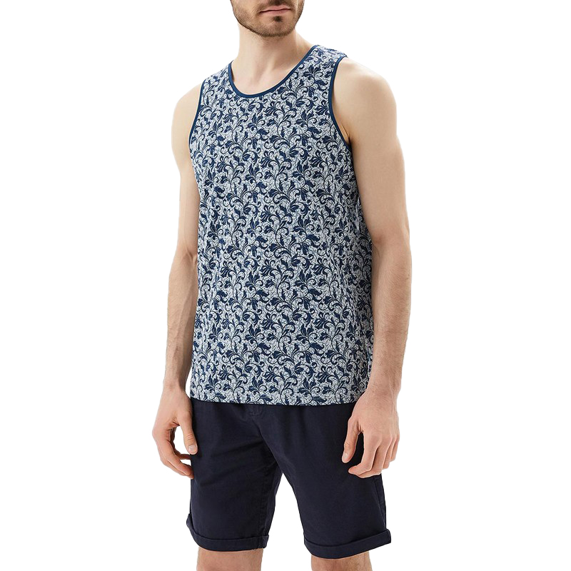 Tank Tops MODIS M181M00178 t shirt top for male TmallFS lace insert ripped tank top