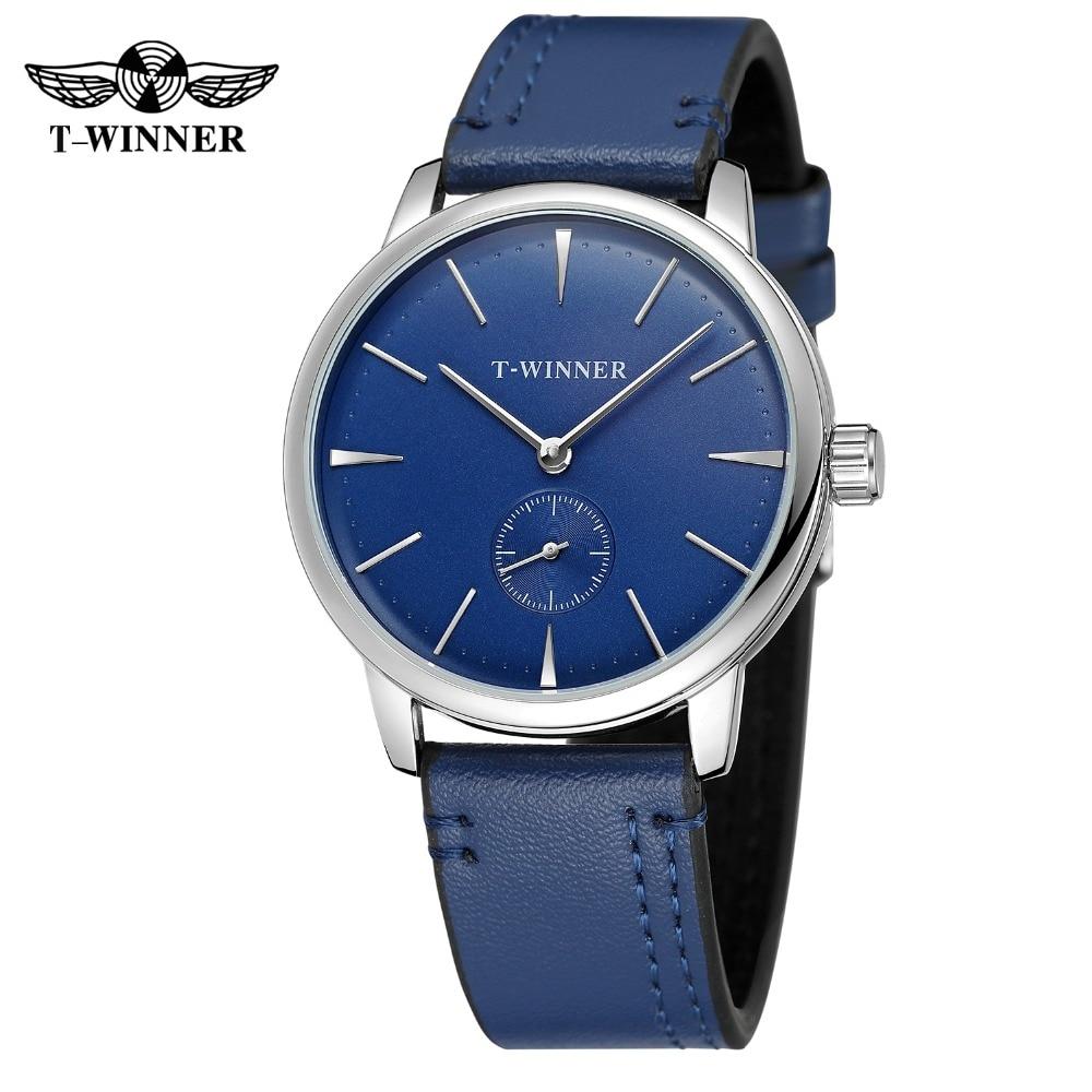 Winner Watch Men Casual Business Mechanical Wristwatch Fashion Sport Automatic Leather Strap Watch Relojde Hombre все цены