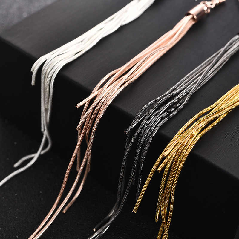 Jiayiqi Vintage Long Earrings Silver color Tassel Earrings High Quality Earrings Fashion Jewelry for Women Best Gift 2018