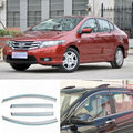 4pcs New Smoked Clear Window Vent Shade Visor Wind Deflectors For Honda City