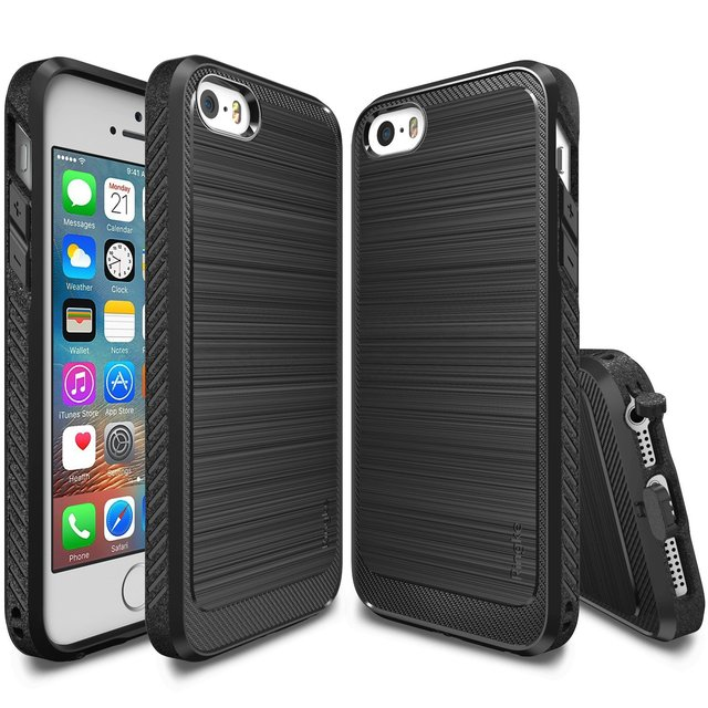 low cost 16515 d82e9 US $14.99  Ringke Onyx Case for iPhone 5S / iPhone 5 / iPhone SE Premium  Flexible Soft TPU Anti Slip Defensive Cases-in Fitted Cases from Cellphones  & ...