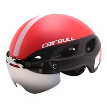 Magnetic Goggles Cycling Helmet Road Mountain In-mold Glasses Bicycle Helmet Ultralight Bike Helmet Casco Ciclismo 54-62CM