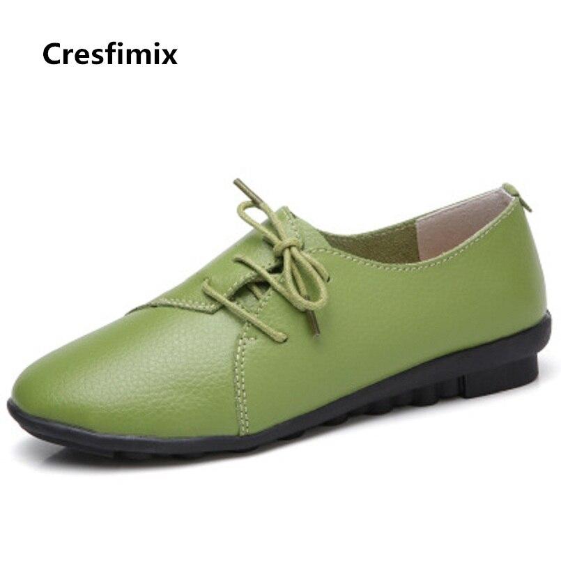 Lacets À Mujer Véritable En Zapatos Confortable Plates De Dame c b d Chaussures Cuir Femmes C2146 Cresfimix A Mode 8q1Y0wEE