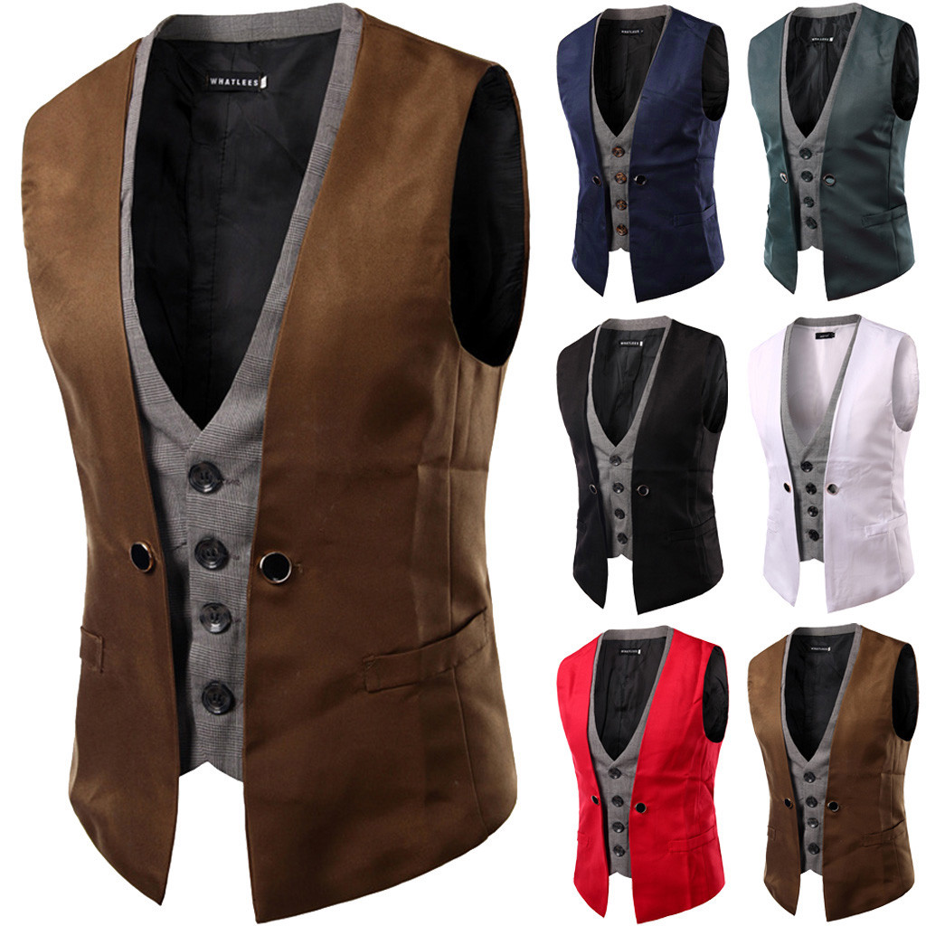 Mens Vest Autumn Winter Casual Pocket Beston Droit Waistcoat Vest Jacket Top Coat Chalecos Para Hombre Chaleco Hombre Dropship