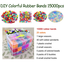 DOLLRYGA Colorful Loom Bracelet Rubber Bands Kits 15000PCS 25 Colors Art And Craft Toys With Creative DIY Weaving Gift
