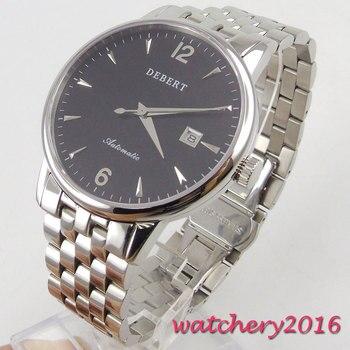 40mm Debert Black Dial Date Deployment clasp Newest top brand Luxury Sapphire Glass Miyota Automatic Movement Mens Watch