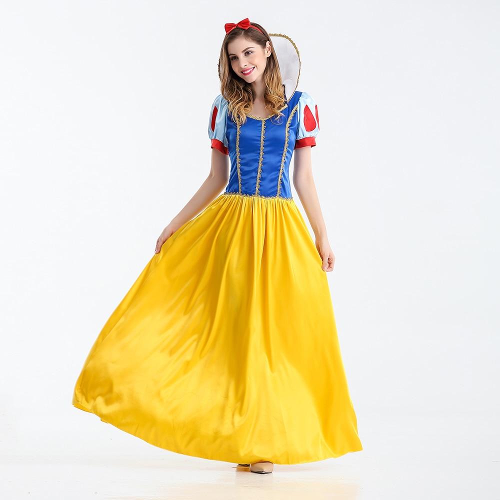 VASHEJIANG Kigurumi Blancanieves Disfraz de Princesa Adulto Fantasias Feminina Princesa Cosplay Mujeres Sexy Halloween Juego de Rol Disfraz