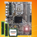 Marca de la placa base CPU RAM conjunto HUANAN ZHI X58 placa base con CPU Intel Xeon X5650 2,66 GHz RAM 8G (2*4G) registro ECC 2 años de garantía
