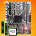 Marca della scheda madre CPU RAM set HUANAN ZHI X58 scheda madre con CPU Intel Xeon X5650 2.66GHz RAM 8G (2*4G) REG ecc 2 anni di garanzia