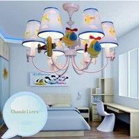 Cartoon Led Chandelier flower lustre led 110V 220V Kids Room Chandelier baby E14 Led Chandeliers Home Lighting