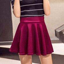 DICLOUD falda de cintura alta Harajuku para mujer, falda ajustada de talla grande, informal, elástica, para verano, 2019