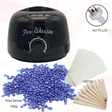 Depilatory waxing kit Black Color wax warmer machine paraffine wax heater for hand and feet SPA wax beans epilator hair removal 100g wax beans hot wax heater wax stickers hair removal sets wax melting machine beauty safe and secure epilator us plug