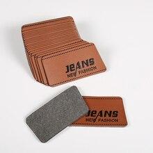 100 шт кожаные этикетки на джинсы /ПУ/карты бирки универсальные джинсы кожа патч этикетки хорошего качества кожаная этикетка для одежды