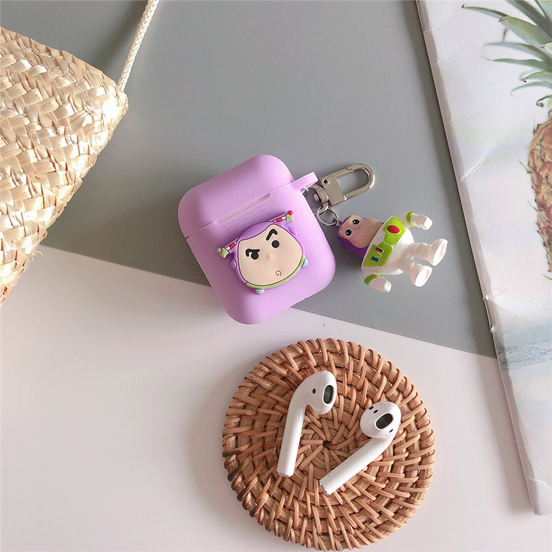 Cartoon Toy Story Woody Buzz Lightyear Case For airpods Apple Wireless bluetooth headset Cover New air pod 2 acessorios in Earphone Accessories from Consumer Electronics
