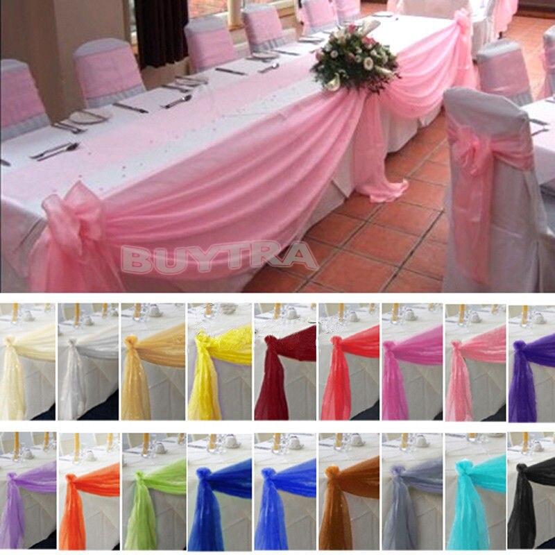 1 St Gratis Verzending 5 M X 0.5 M Top Table Swags Sheer Organza Swag Stof Bruiloft Boog Decoraties Diy